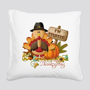 thanksgiving copy Square Canvas Pillow