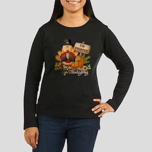 thanksgiving copy Women's Long Sleeve Dark T-Shirt