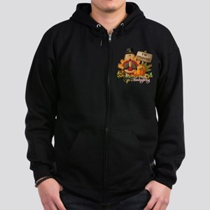 thanksgiving copy Zip Hoodie (dark)