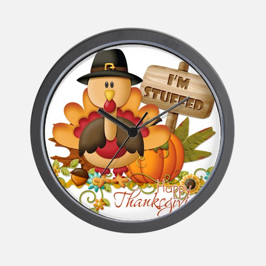 thanksgiving copy Wall Clock