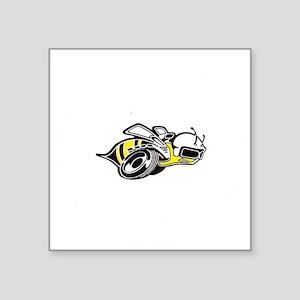 """Super Bee White  Square Sticker 3"""" x 3"""""""