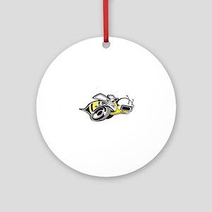 Super Bee White  Round Ornament