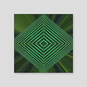 "Jade Web Square Sticker 3"" x 3"""