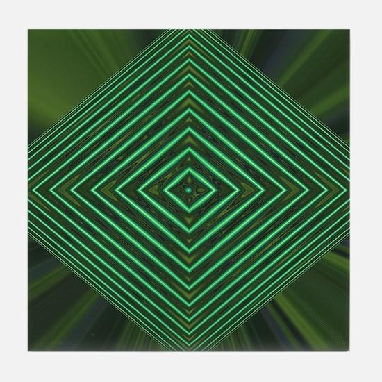 Jade Web Tile Coaster