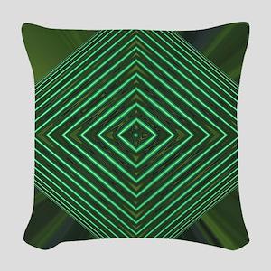 Jade Web Woven Throw Pillow