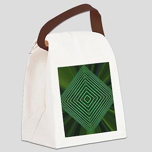 Jade Web Canvas Lunch Bag