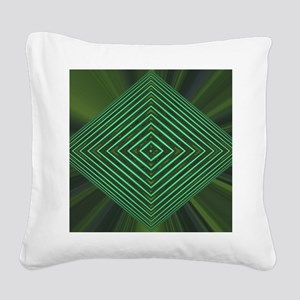 Jade Web Square Canvas Pillow