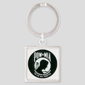pow-mia Square Keychain