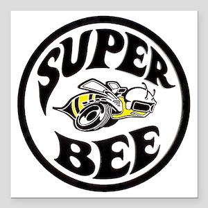"Super Bee  Square Car Magnet 3"" x 3"""
