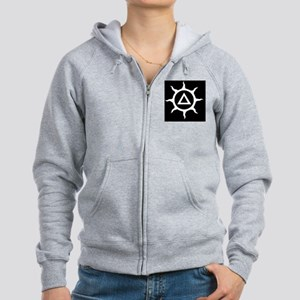 Delta Sun inverted and cleaned- Women's Zip Hoodie