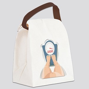 fAT Scale GROAN Canvas Lunch Bag