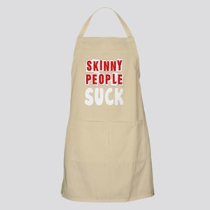Fat Skinny People Suck white Apron