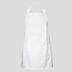 Fat Overweight Undertall white Apron
