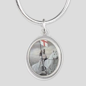 knights_templarHORSE Silver Oval Necklace