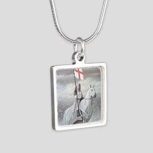 knights_templarHORSE Silver Square Necklace