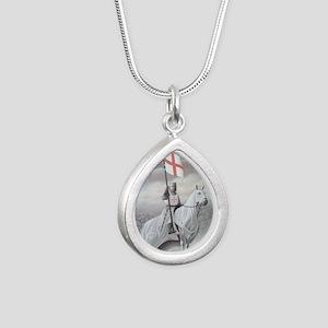 knights_templarHORSE Silver Teardrop Necklace