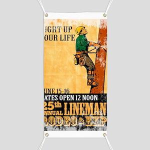 power lineman electrician repairman Banner