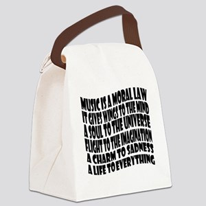 music is a moral law master 2 bla Canvas Lunch Bag