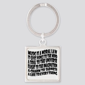music is a moral law master 2 blac Square Keychain
