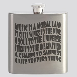 music is a moral law master 2 black Flask