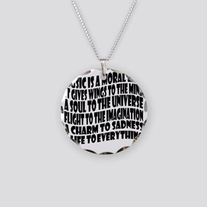 music is a moral law master  Necklace Circle Charm