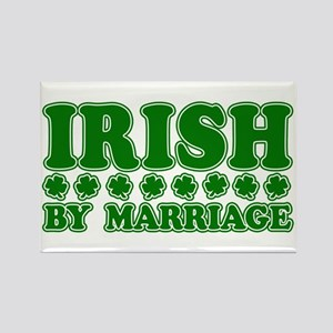 Irish by Marriage Rectangle Magnet
