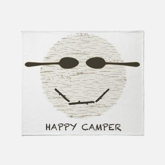 happy camper drk Throw Blanket