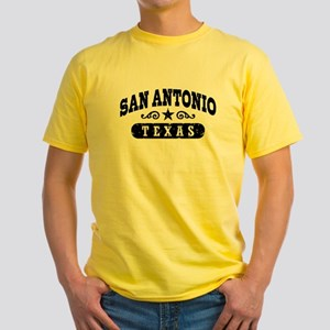 San Antonio Texas Yellow T-Shirt