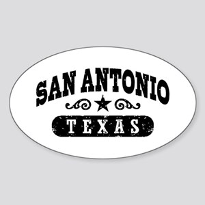 San Antonio Texas Sticker (Oval)