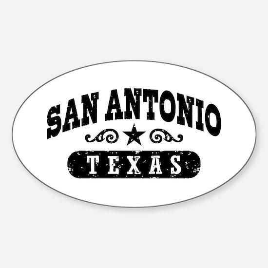 San Antonio Texas Sticker (Oval)