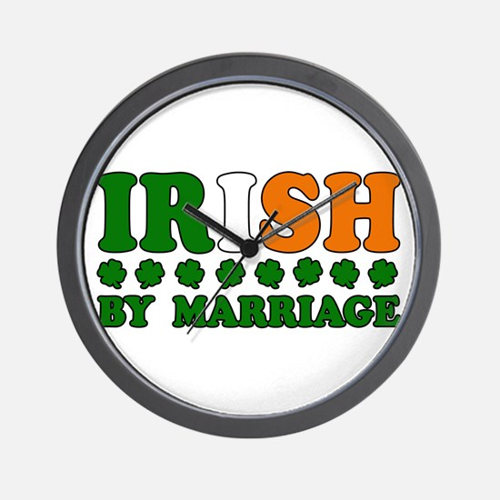 Irish by Marriage Tricolor Wall Clock