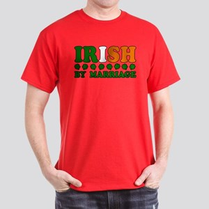 Irish by Marriage Tricolor Dark T-Shirt