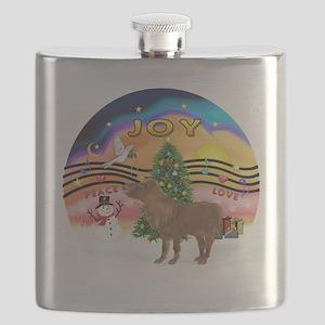R-XmasMusic2-ShetlandPony Flask