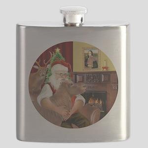 R-Santa-ShetlandPONY Flask