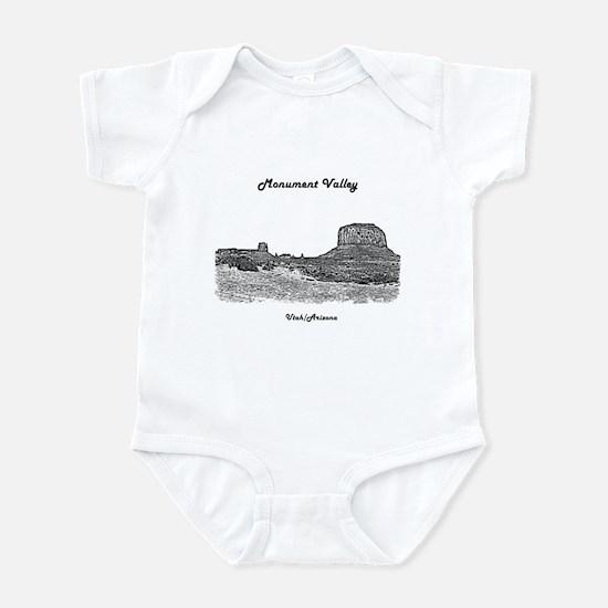 B@W Monument Valley Baby Light Bodysuit