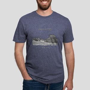 B@W Monument Valley Mens Tri-blend T-Shirt