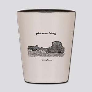 B@W Monument Valley Shot Glass