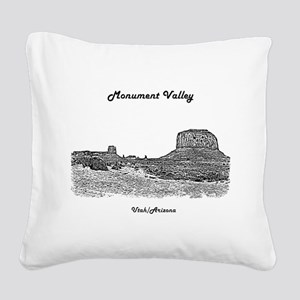 B@W Monument Valley Square Canvas Pillow