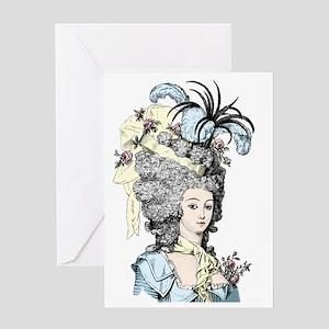 Versailles Lady Greeting Card