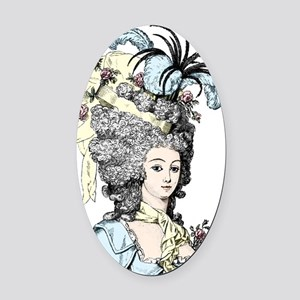 Versailles Lady Oval Car Magnet