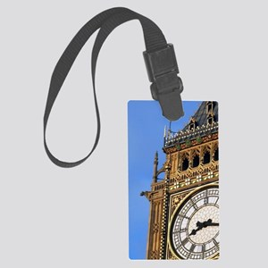 Famous Big Ben clocktower, a Lon Large Luggage Tag
