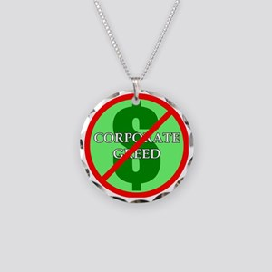 Greed Necklace Circle Charm