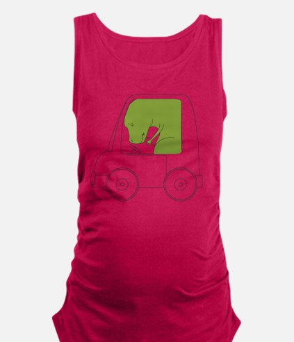 TRexCantDrive Maternity Tank Top