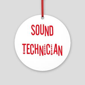 Sound Technician Ornament (Round)