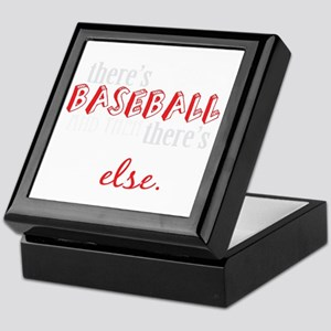 baseball then eleverything else_dark Keepsake Box