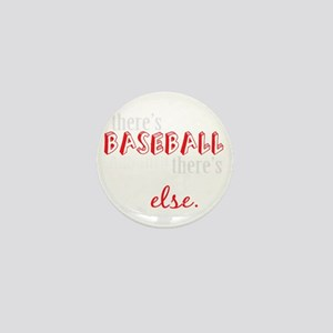 baseball then eleverything else_dark Mini Button