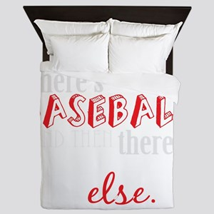 baseball then eleverything else_dark Queen Duvet