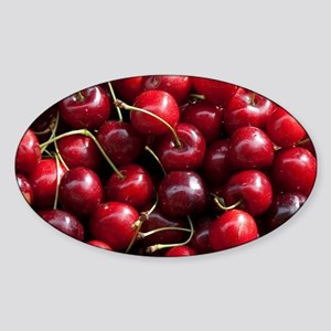 Summer Kent cherriesrbury. High Str Sticker (Oval)