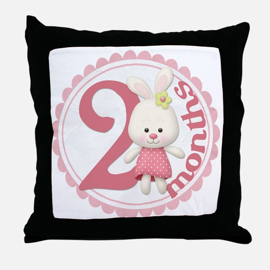 bunny-2 copy Throw Pillow