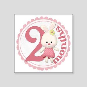 """bunny-2 copy Square Sticker 3"""" x 3"""""""